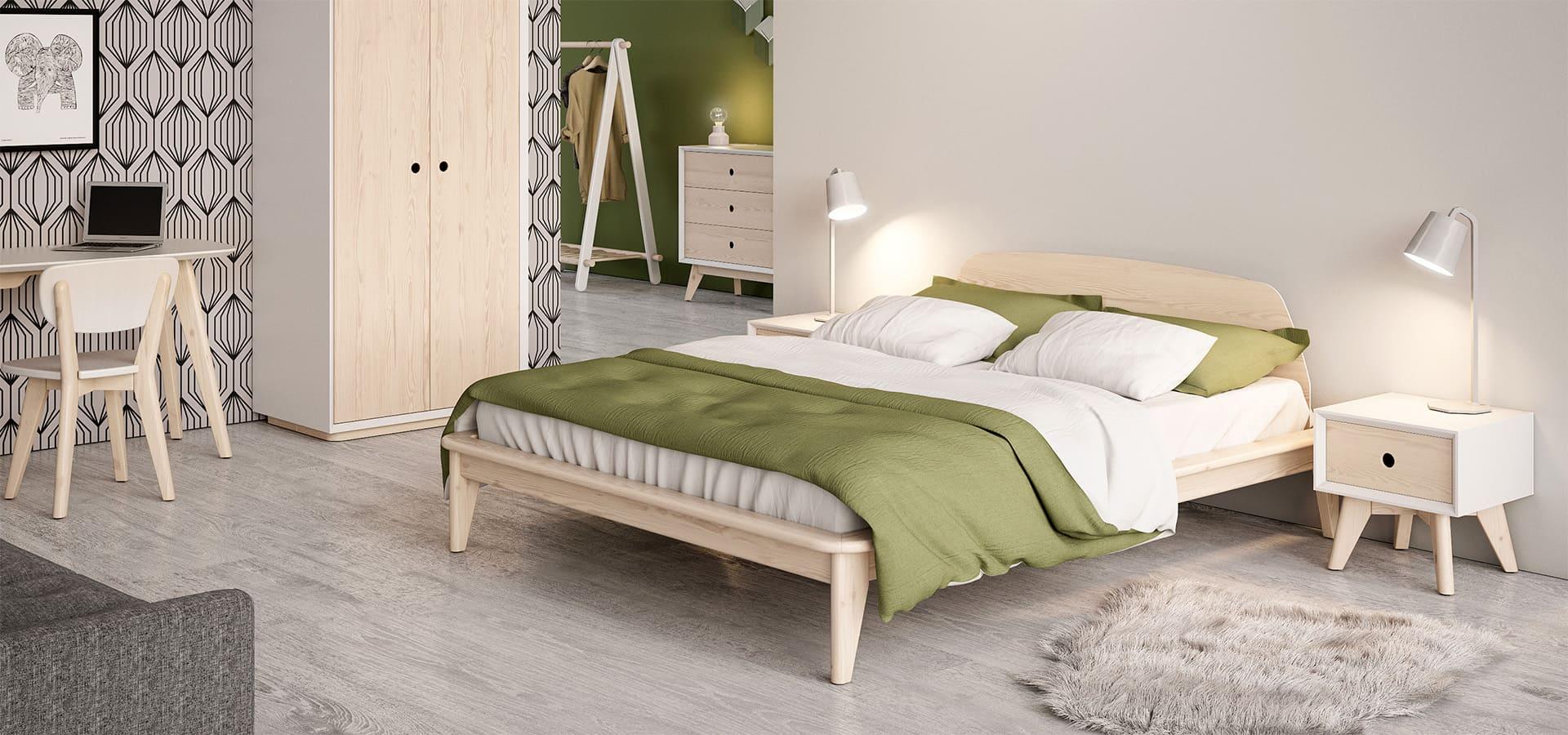 Спальня скандинавского стиля
